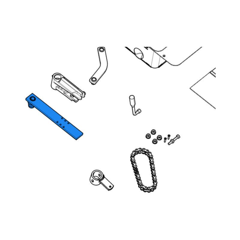 CAME pièce détachée étrier fixation portail pour caisse frog 119ria043 - Came