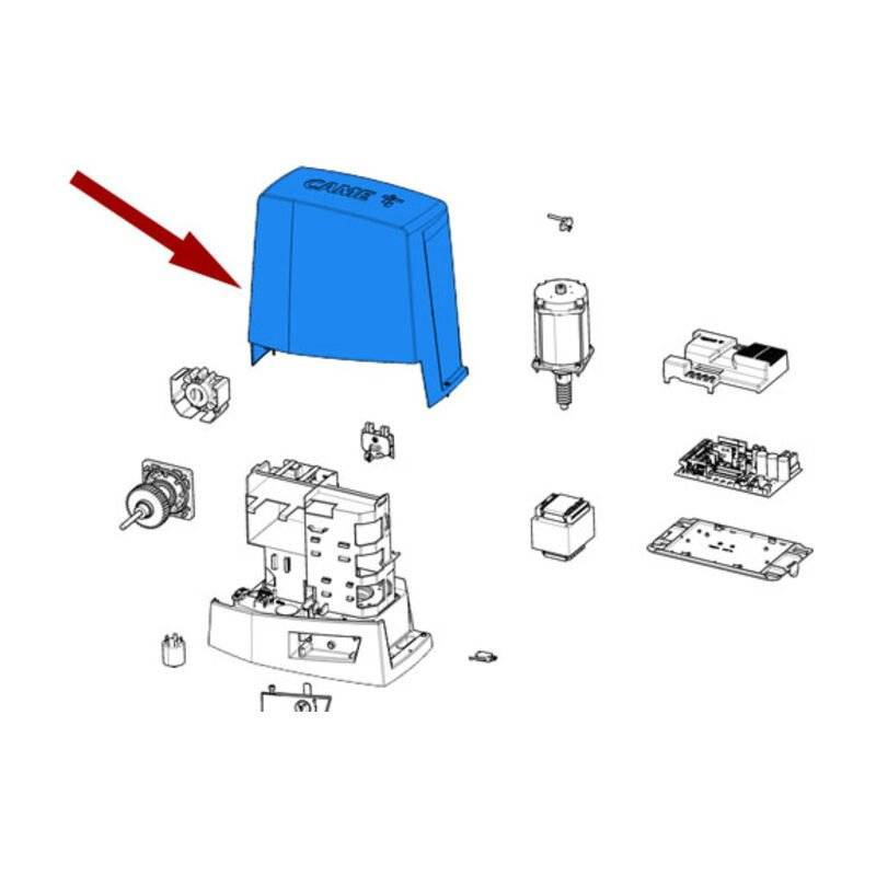 CAME pièce détachée couvercle gris ral 7024 bkv 88001-0171 - Came