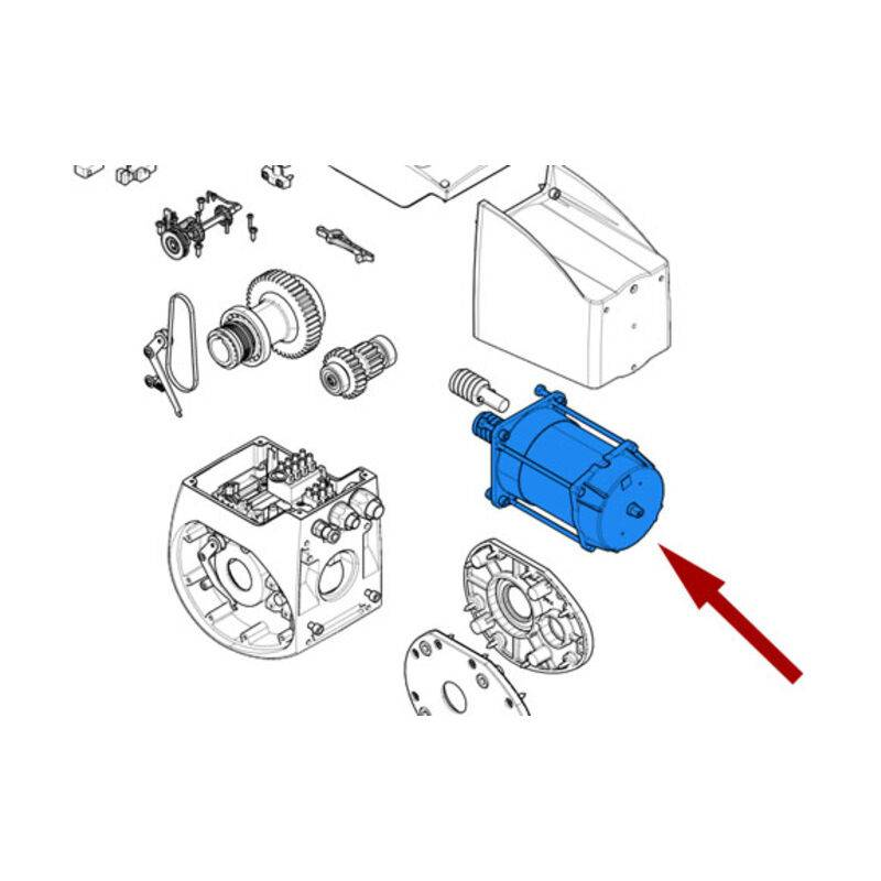 CAME pièce détachée du groupe moteur c-bx 119ricx039 - Came