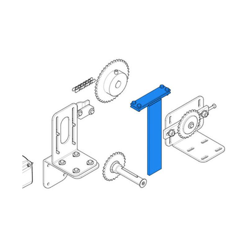 CAME pièce détachée étrier fixation chaîne c-bx 119ricx014 - Came
