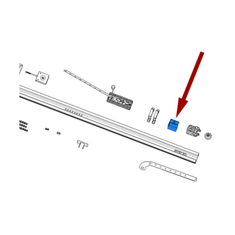 CAME pièce détachée ètriers de fixation rail v6000 119rie176 - Came
