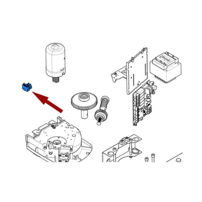 CAME pièce détachée patin système coulissement fast bxl 119rie025 - Came