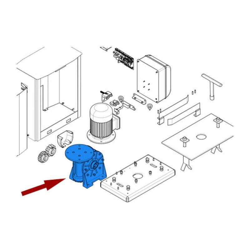 CAME pièce détachée réducteur by 119riy069 - Came