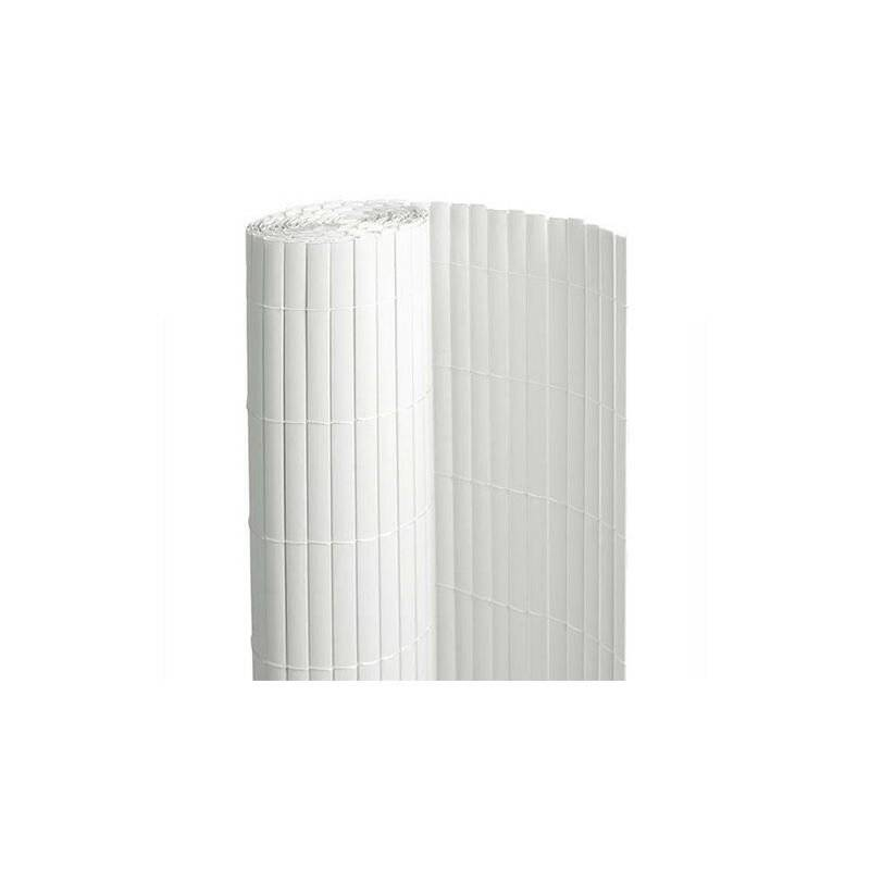 ATOUT LOISIR Canisse en PVC blanc - 90% d'occultation, Long 51 m, Hauteur 1.80 m
