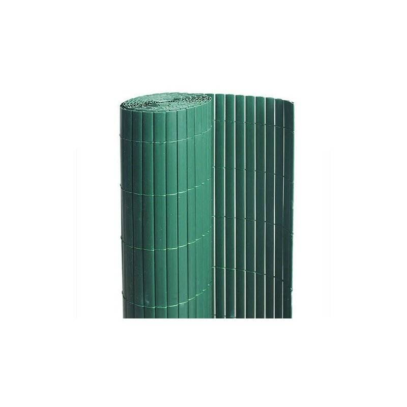 ATOUT LOISIR Canisse en PVC vert - 90% d'occultation, Long 57 m, Hauteur 1 m