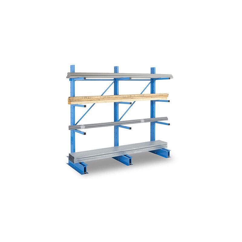 RAYONNAGE DIRECT A. Rack cantilever 3 niveaux - 1 coté - 2000x1000x800mm - Élément de départ