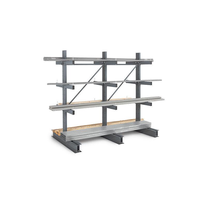 RAYONNAGE DIRECT B. Rack cantilever 3 niveaux 2 cotés- 2000x1000x800mm - Élément suivant