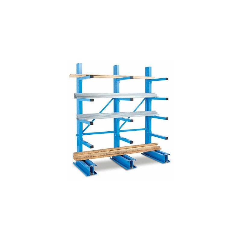 RAYONNAGE DIRECT A. Rack cantilever 4 niveaux 1 coté - 2500x1000x800mm - Élément de départ