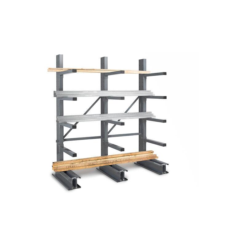 RAYONNAGE DIRECT B. Rack cantilever 4 niveaux 1 coté - 2500x1000x800mm - Élément suivant