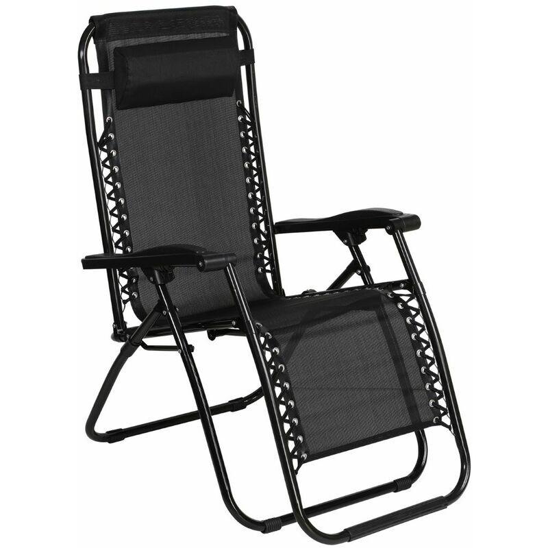 SAVINO FILIPPO Chaise longue pliante en metal avec textile, dossier inclinable reglable en 2