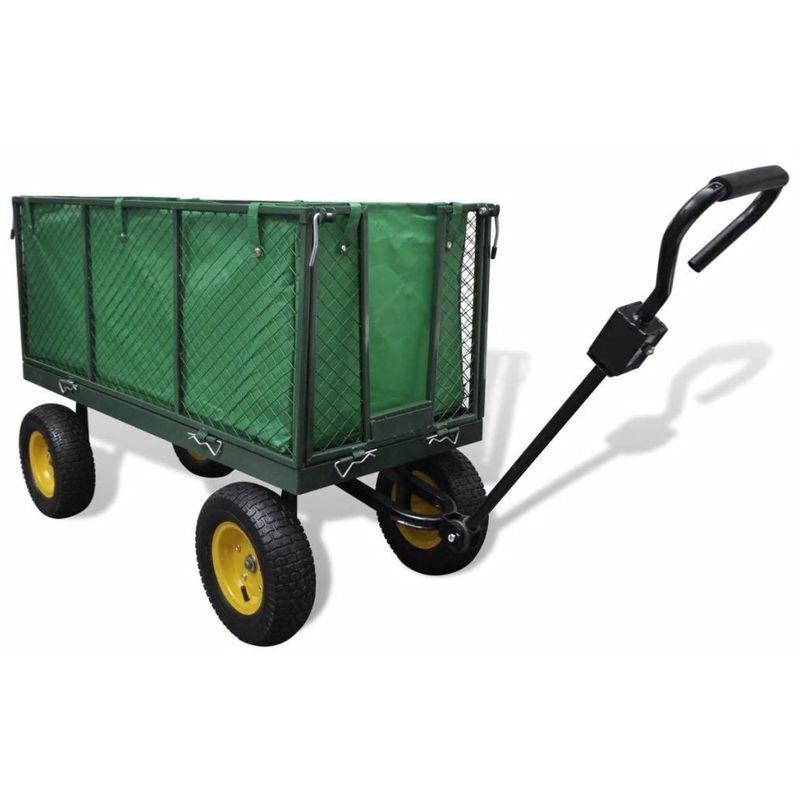 BIG B GLS Chariot de jardin à main en métal 128 x 62 x 84 cm - 350 Kg max