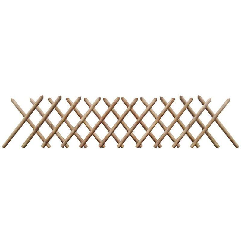 Youthup - clôture à treillis 250 x 60 cm Bois imprégné