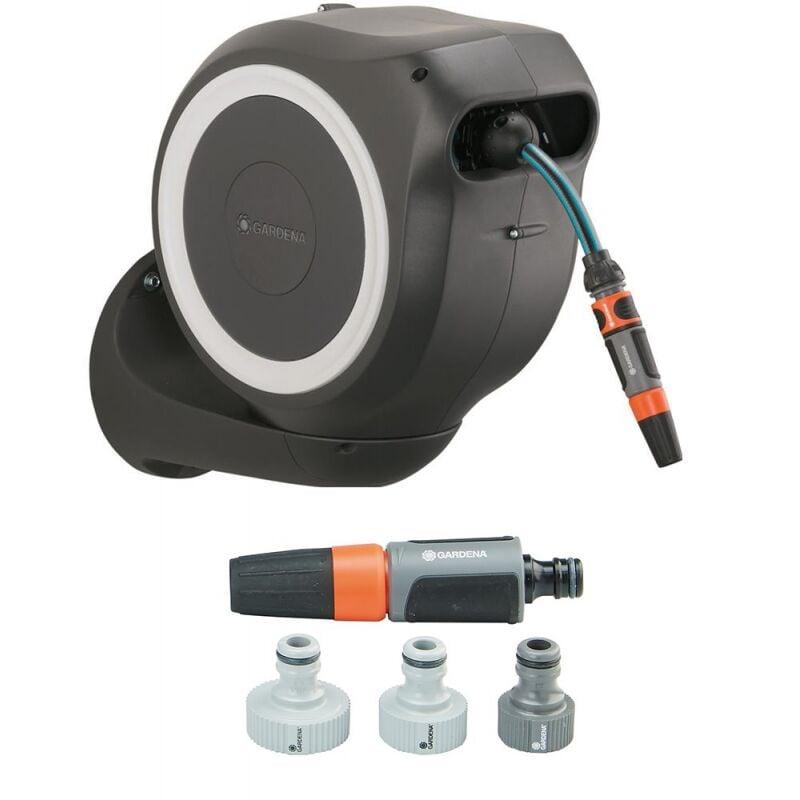 Gardena 3205290 Dévidoir mural a roulement automatique pour tuyau d'arrosage 15