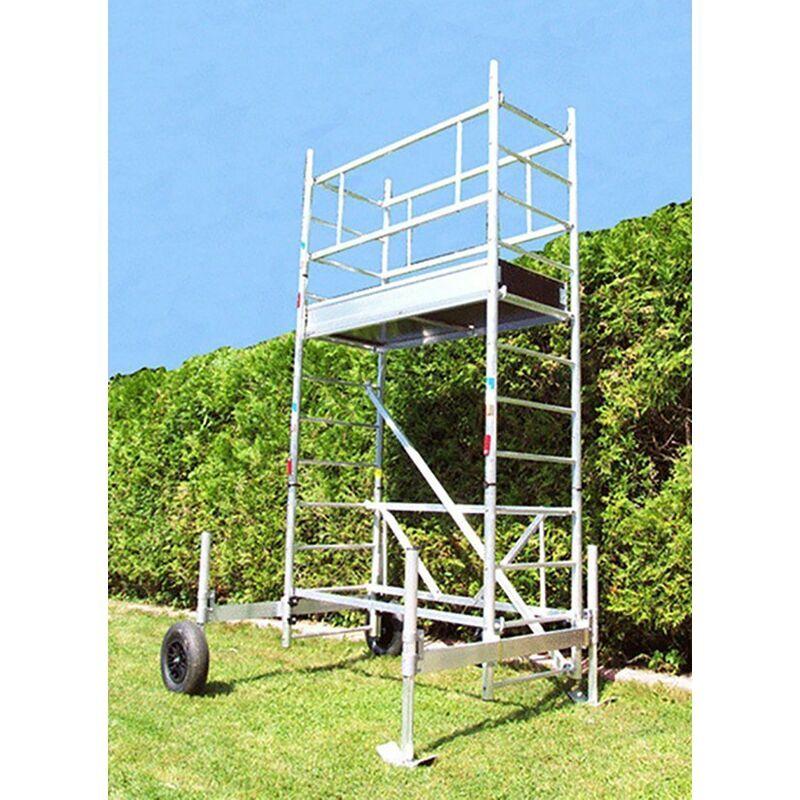 ECHAFAUDAGE DIRECT - MATISERE D. Echafaudage de jardin - Hauteur de plateforme de 5.30m
