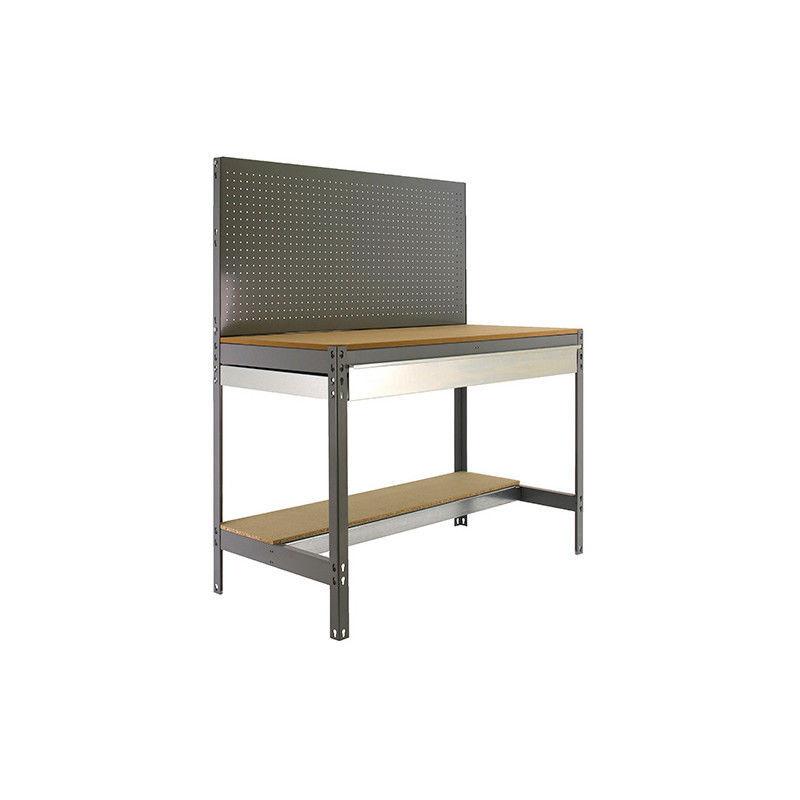 SIMONRACK Etabli 2 niv./panneau/1 tiroir 850 Kg L. 1510 x Ht. 1445 x P. 610 mm KIT
