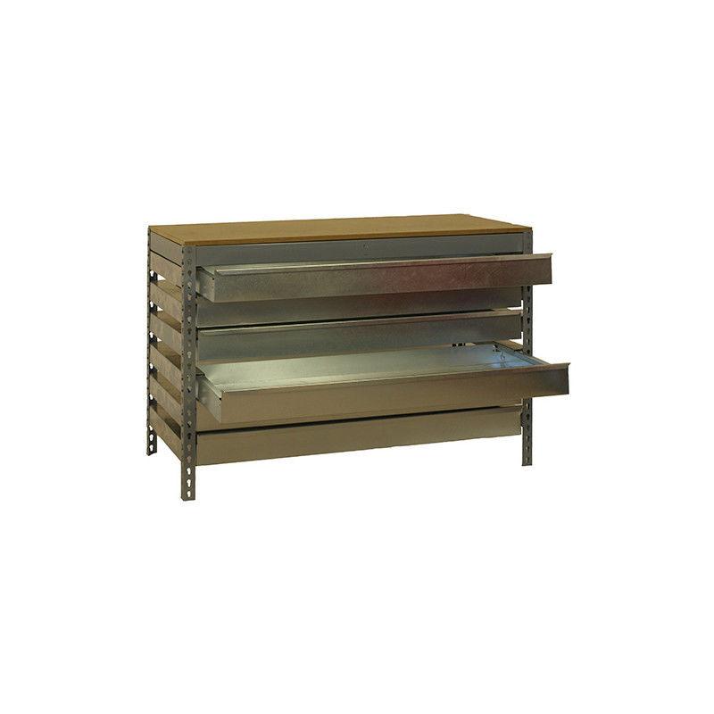 SIMONRACK Etabli 6 tiroirs 600 Kg L. 1210 x Ht. 842 x P. 760 mm KIT SIMONWORK BT5 BOX6