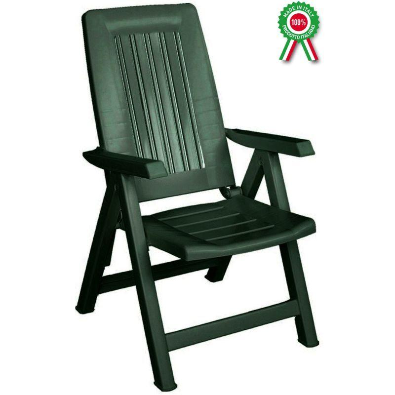 SAVINO FILIPPO Fauteuil - chaise longue modele Diana pliante, inclinable et reglable en resine