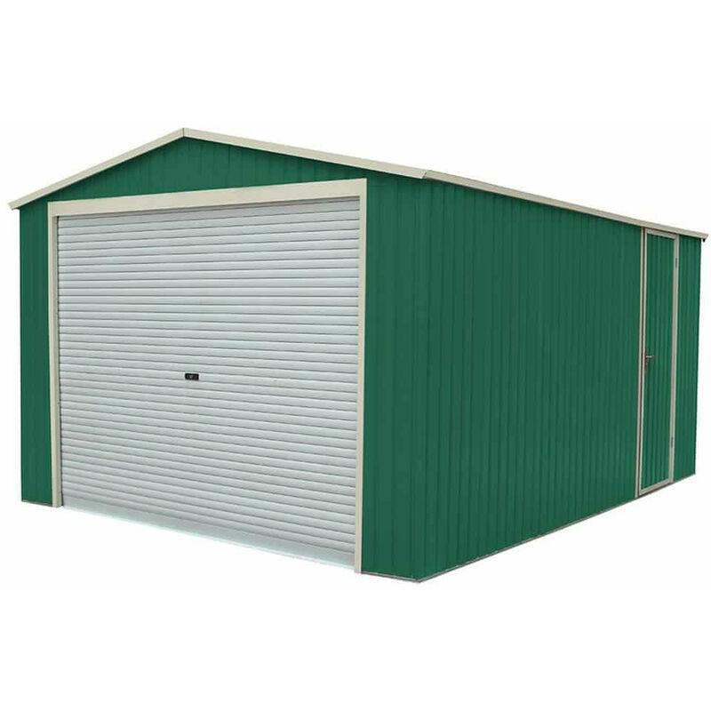 Gardiun Garage Voiture Métallique Essex 19,5 M² Extérieur 576 cm x 338 cm x 243