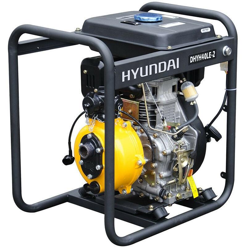 Hyundai E - HYUNDAI motopompe thermique diesel 418cc 10 cv DHYH40LE-2 dém élec