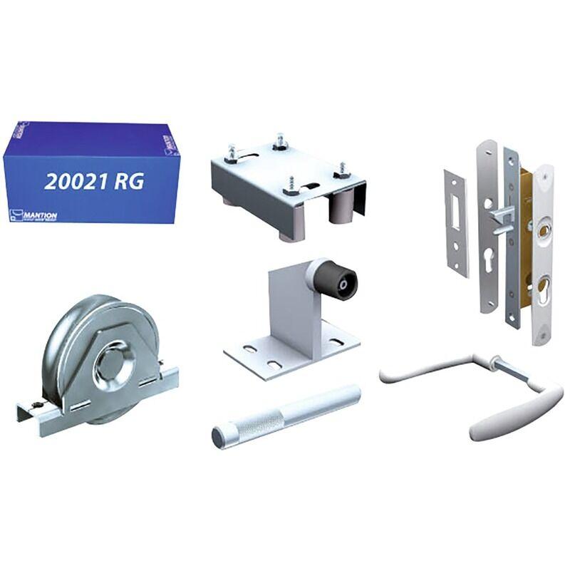 MANTION Kit garniture pour portail manuel sur roulement au sol Mantion - 800 kg - Gris