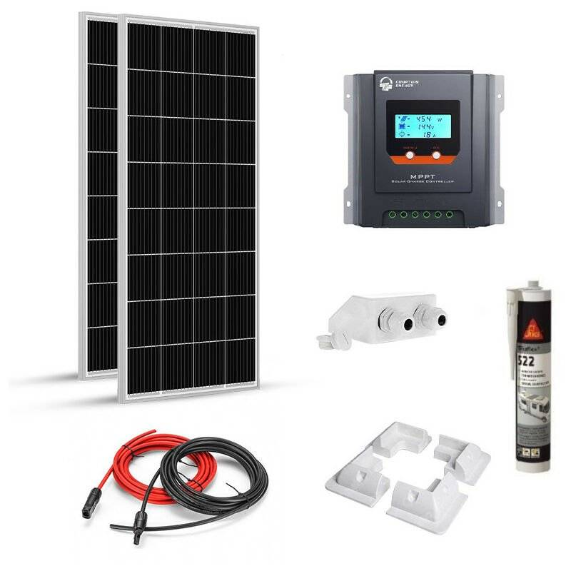 Epever - Kit solaire 360w (180w x 2) 12v camping car-caravane-bateau Mppt Boost