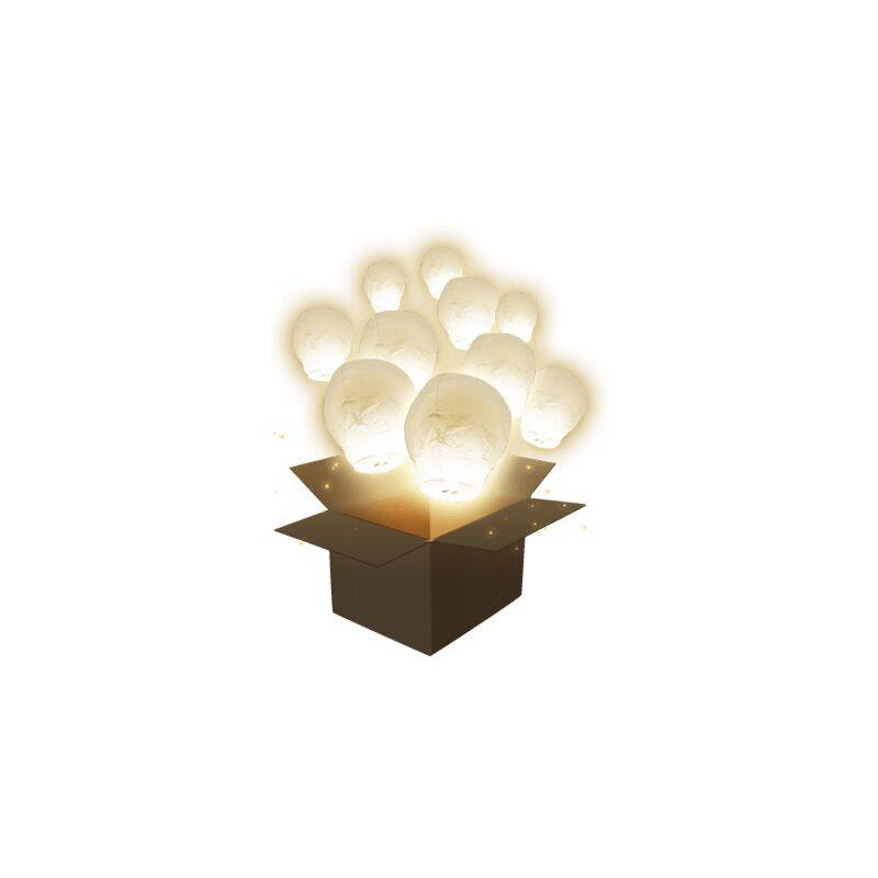 SKYLANTERN Lanterne Volante Balloon Blanc x30 - Blanc