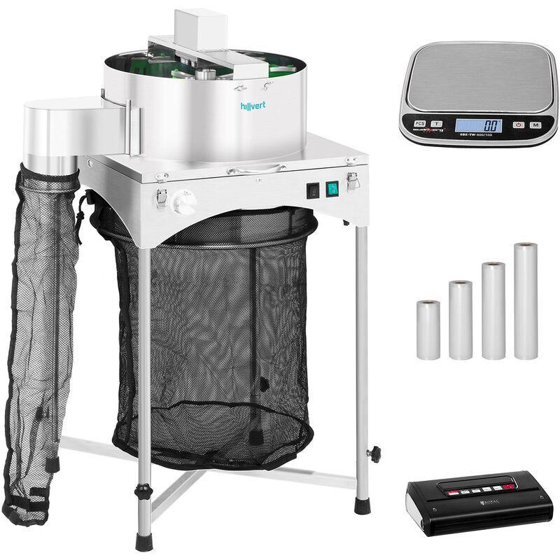 HILLVERT Machine à manucurer électrique Set Effeuilleuse Mise Sous Vide Balance Sac 130 W