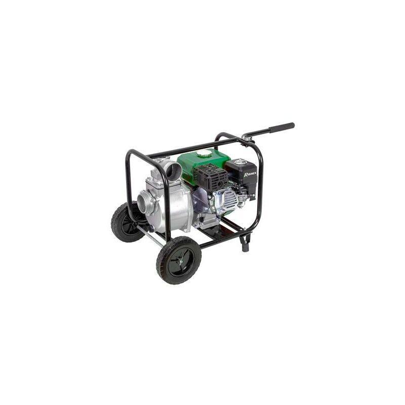 RIBIMEX Motopompe 6 hp 212 cc 33m3 par heure sur roues