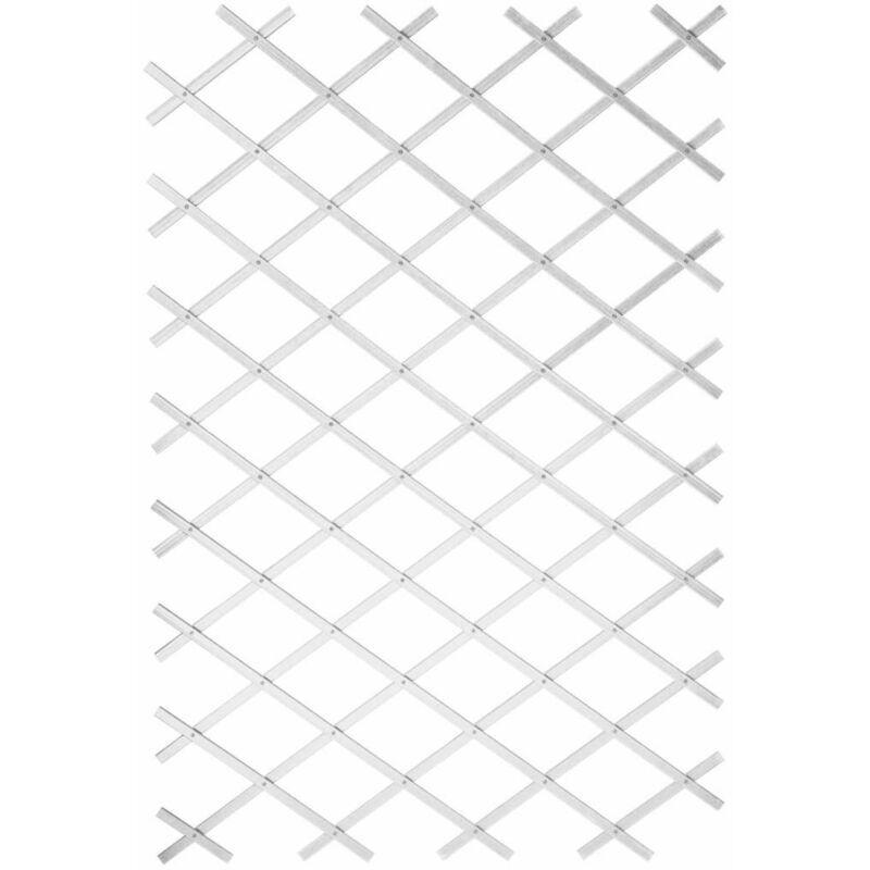 Youthup - Nature Treillis de jardin 100 x 300 cm PVC Blanc