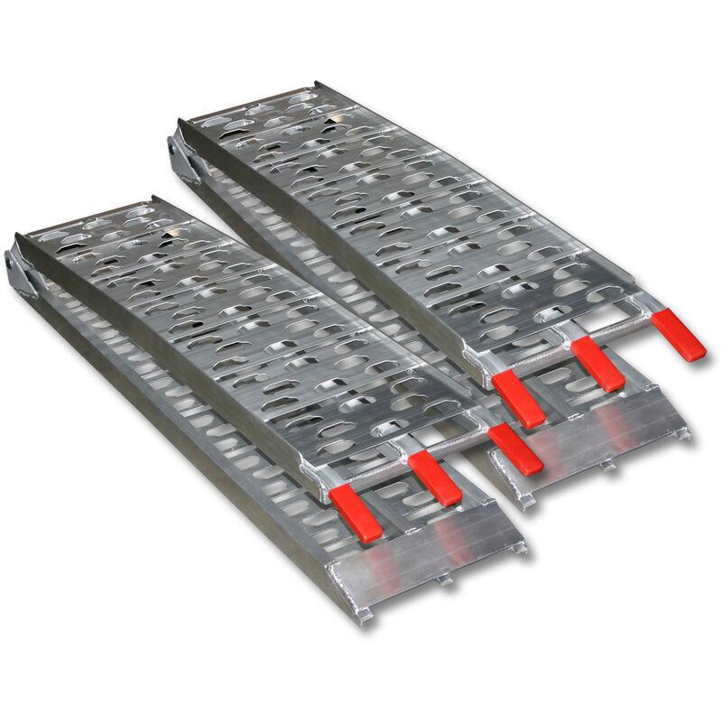 Wiltec - Paire Rampe de chargement pliable jusqu'à 680kg 220x28cm