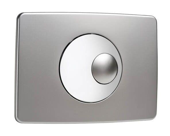 NICOLL Plaque de commande NICOLL Double volume - Chromé velours et brillant - 0709189