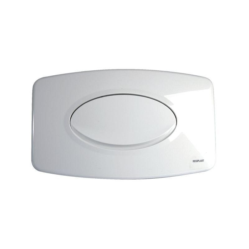REGIPLAST Plaque de commande blanche - simple débit - Regiplast