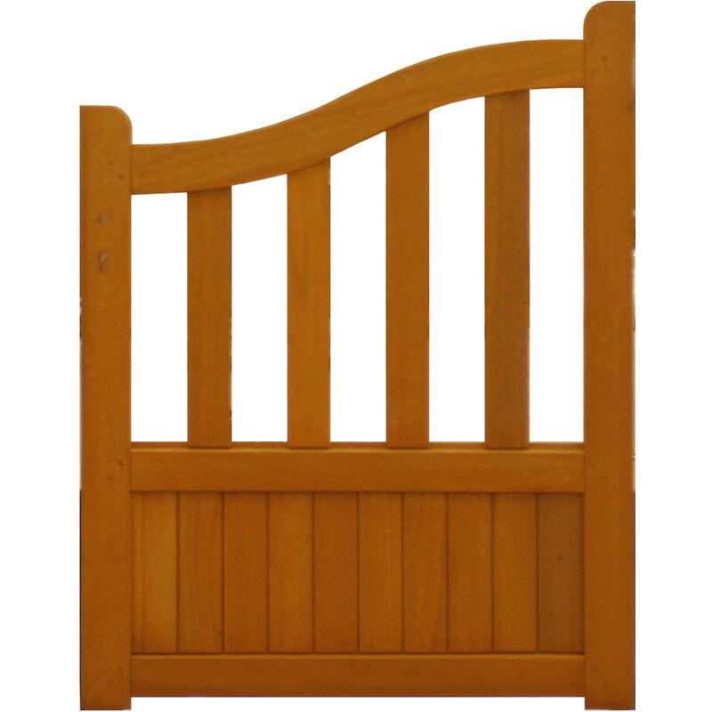 GD MENUISERIES PORTILLON en bois exotique 'ajour�' largeur 1 m hauteur 1,10/1,30 -BLACK