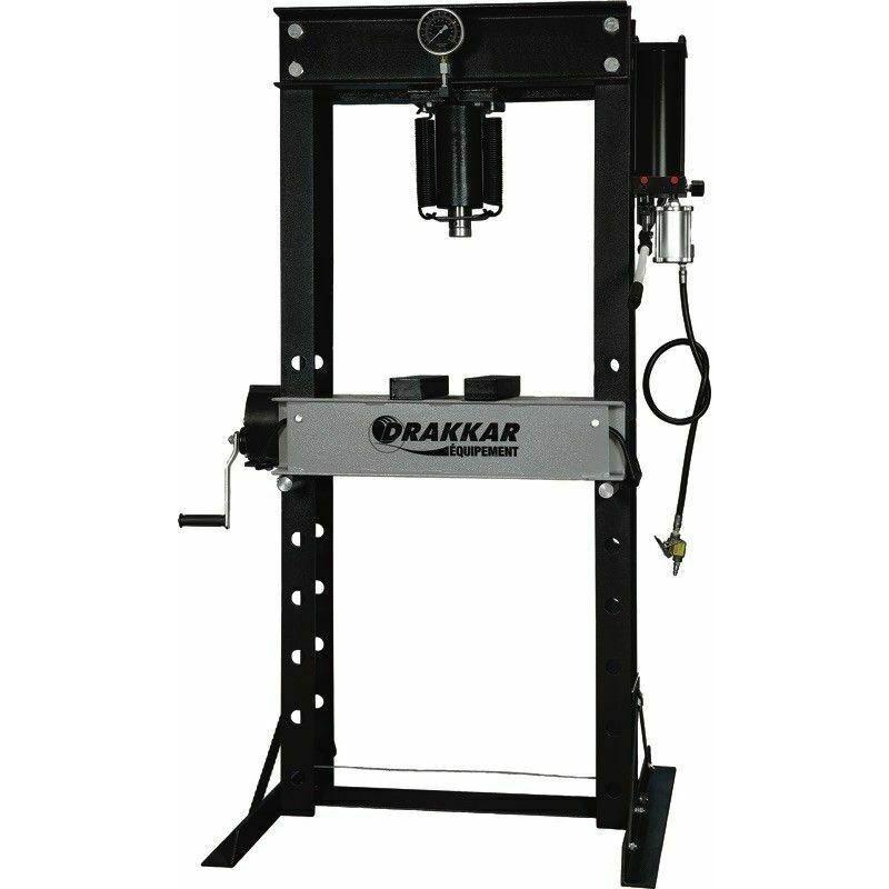 DRAKKAR Presse d'atelier manuelle et pneumatique 40T