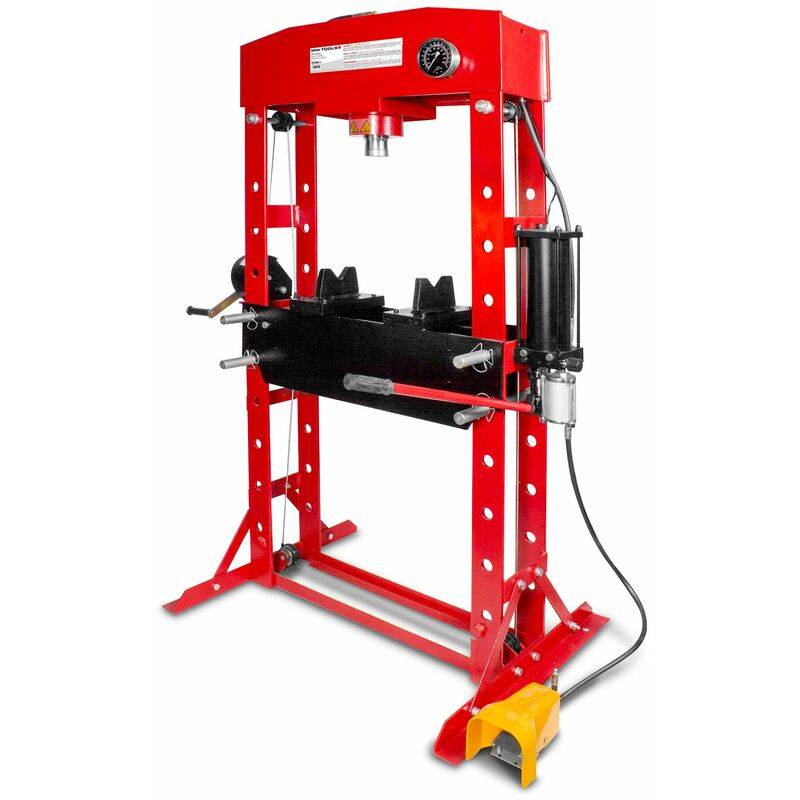 MW-TOOLS Presse hydraulique d'atelier hydropneumatique 50 t MW-Tools PPH50B