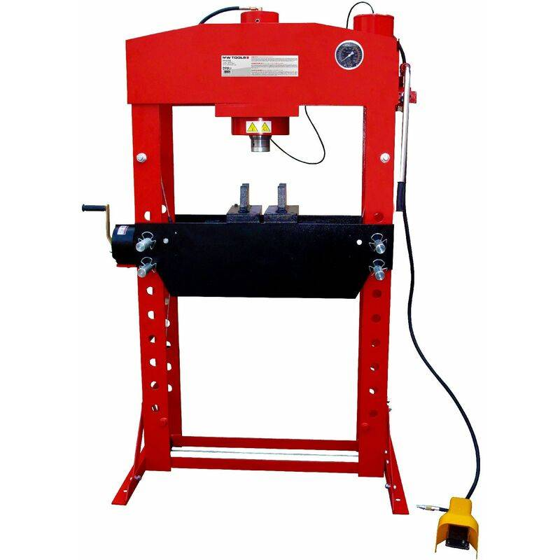 MW-TOOLS Presse hydraulique d'atelier hydropneumatique 75 t MW-Tools PPH75B