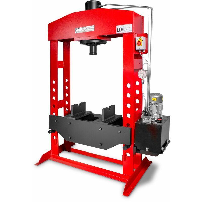 MW-TOOLS Presse hydraulique d'atelier motorisée 100 t MW-Tools AGMCPM100