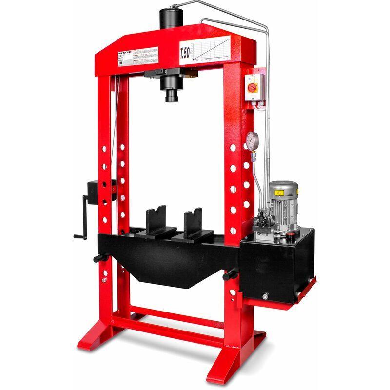 MW-TOOLS Presse hydraulique d'atelier motorisée 50 t MW-Tools AGMCPM50