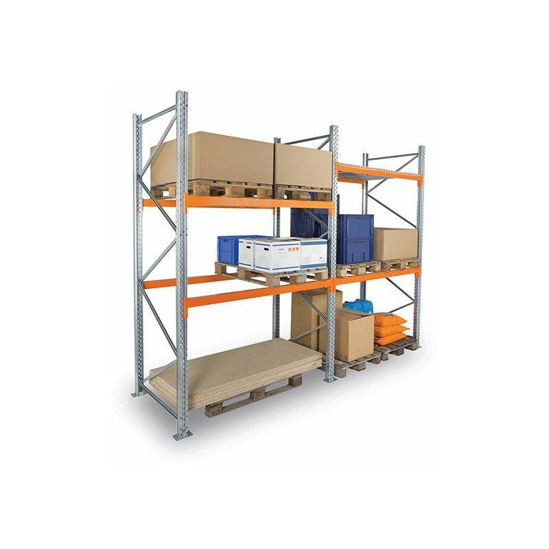 Rayonnage Direct - B. Rack à palettes à 2 niveaux - 3000x3600x1100mm - Element