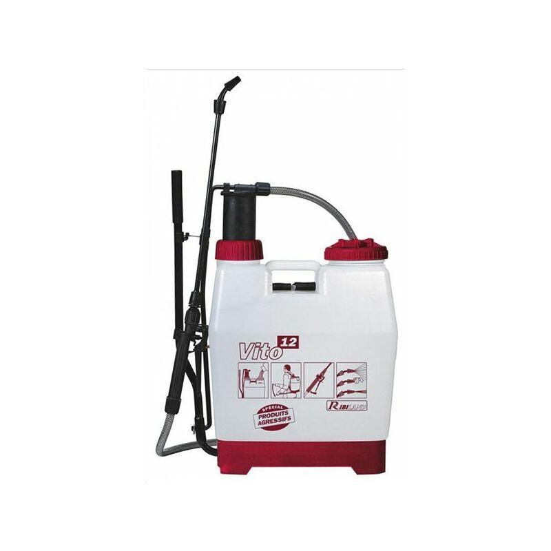 Ribimex - pulvérisateur à dos pour produits agressifs 12l - prp120dc - ribitech
