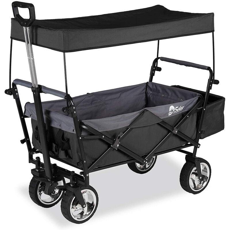 Sekey Charrette de Transport Pliable Chariot de Transport Jardin Chariot de