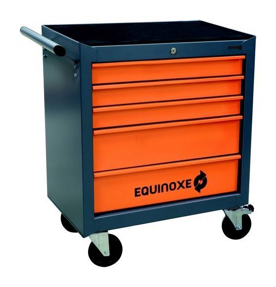 EQUINOXE SERVANTE D'ATELIER 5 TIROIRS 160 outils- S25086