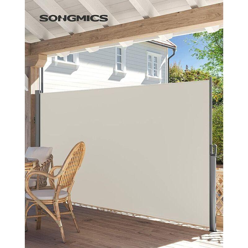 SONGMICS Alu Store latéral 300 x 200cm Auvent rétractable extérieur brise vue pour