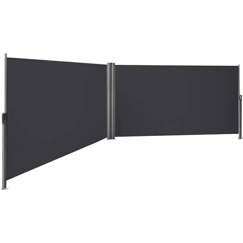 SONGMICS Store latéral abri soleil 160 x 600cm latéral rétractable extérieur brise vue