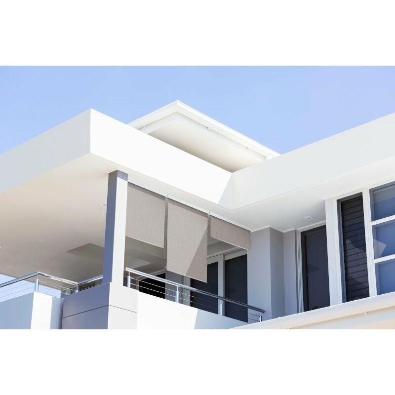 ICI STORE Store Extérieur Vertical 180x230 cm Dickson Gris ORC 6088 - Armature blanche