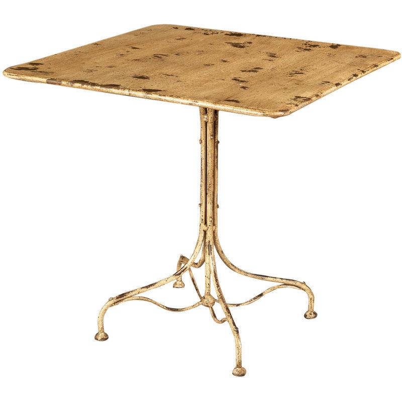BISCOTTINI Table En Fer Forgé Avec Finition Blanche Antique