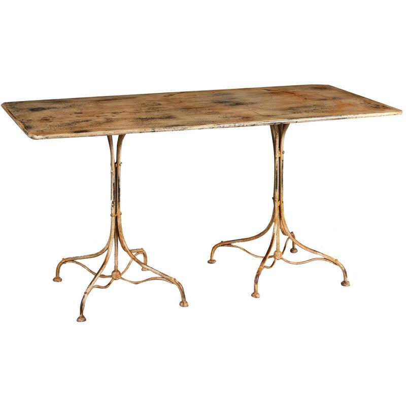 BISCOTTINI Table En Finition Crème Antique En Fer Forgé