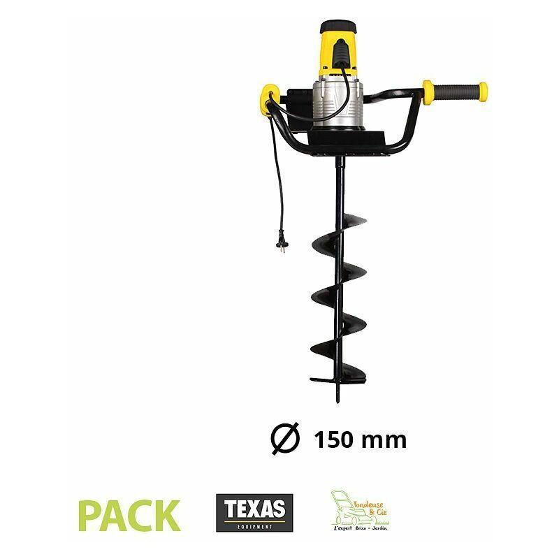 TEXAS Tarière électrique 1200W avec vrille de 150 mm Texas EA1200