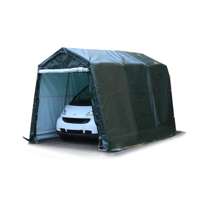 INTENT24.FR 2,4 x 3,6 m garage, abri de stockage, PE 260 g/m², tente garage vert foncé
