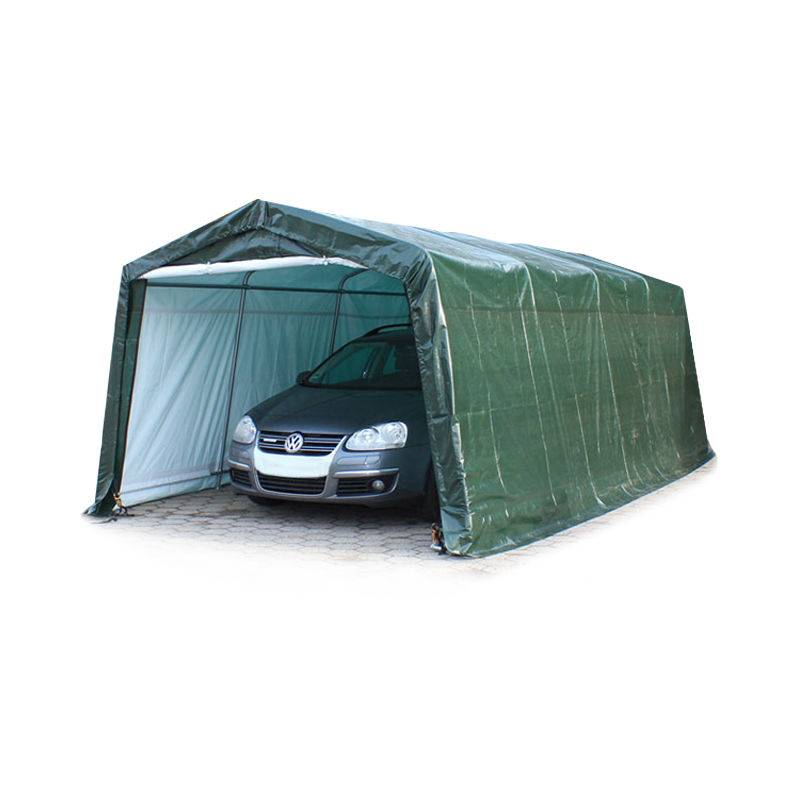 INTENT24.FR 3,3 x 6,2 m garage, abri de stockage, PE 260 g/m², tente garage vert foncé